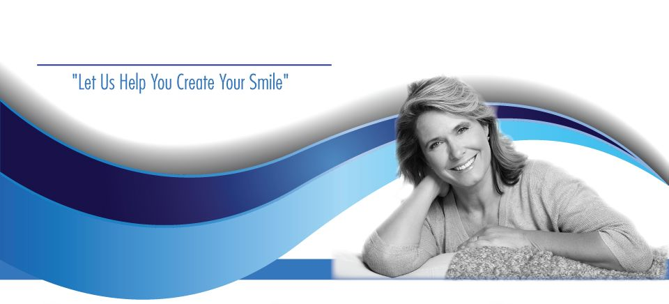"""Let Us Help You Create Your Smile""-senior woman smiling"