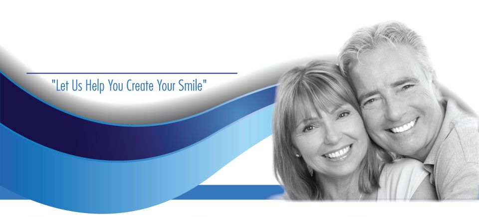 """Let Us Help You Create Your Smile""-smiling couple"