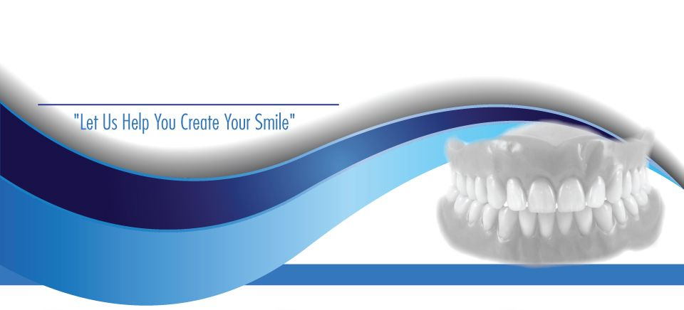 """Let Us Help You Create Your Smile""-complete denture"